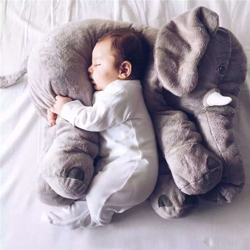 60CM One Piece Elephant Plush Doll With Long Nose Cute PP Cotton Stuffed Dolls Baby Super Soft Appease Elephants Toys Pillow(China (Mainland))