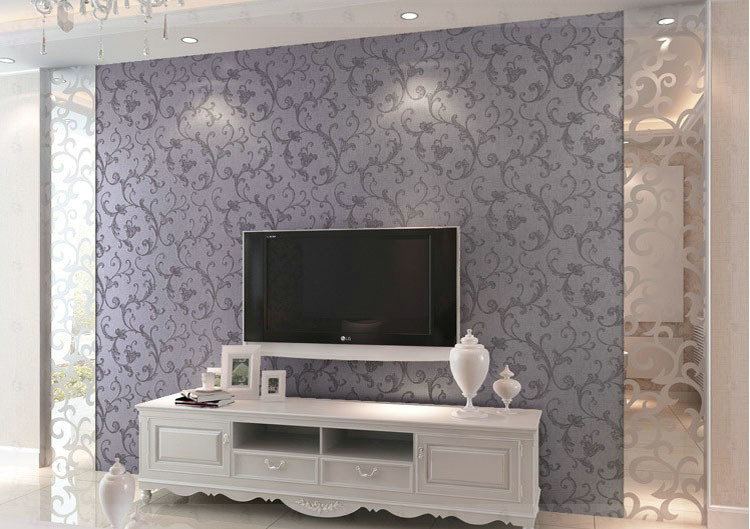 Non woven bedroom wallpaper textured glitter metallic for Glitter wallpaper for bedroom