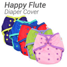 Happy Flute Diaper Cover, One Size Cloth Diaper, Waterproof Breathable PUL Reusable Diaper Covers for Baby,  Fit 3-15kg Baby(China (Mainland))