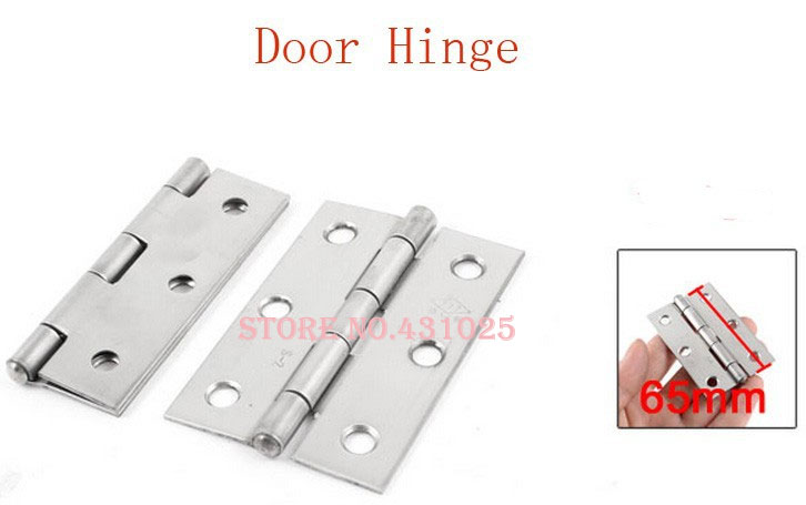 """4.9mm Hole Stainless Steel Rotatable Cupboard Door Hinge Silver Tone 2.5"""" 4pcs(China (Mainland))"""