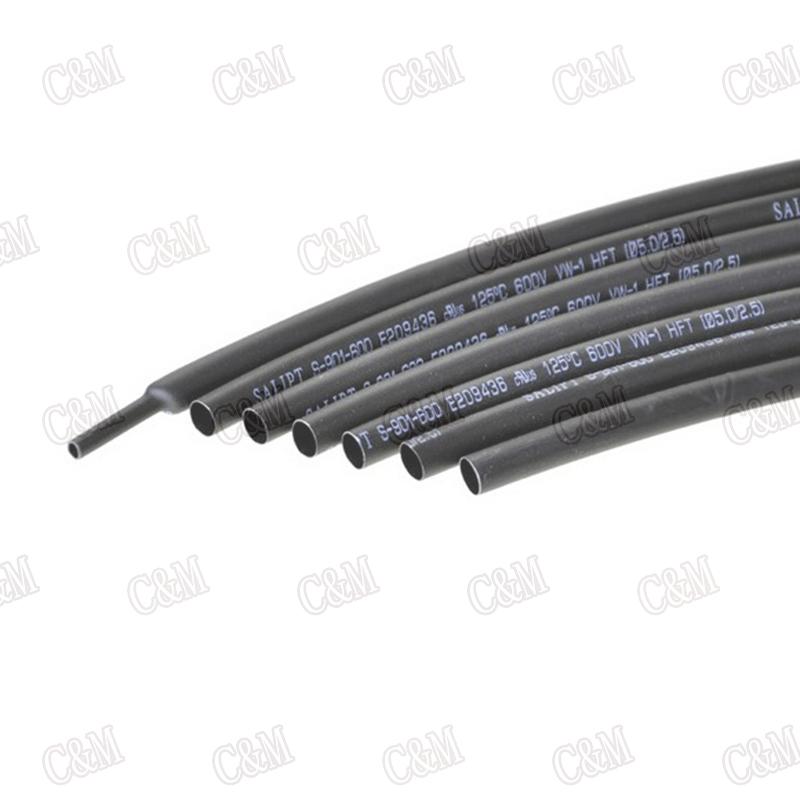Black 1MM Heat Shrinkable Tube 1mm Inner Diameter Insulation Shrink Tubing (5Meter/Lot) - M & C store