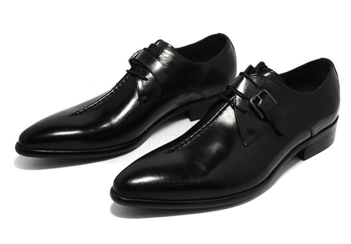 Hot 2015 unique vintage British style black brown rubber soled cowhide genuine leather men shoes casual flats business size:6-10(China (Mainland))
