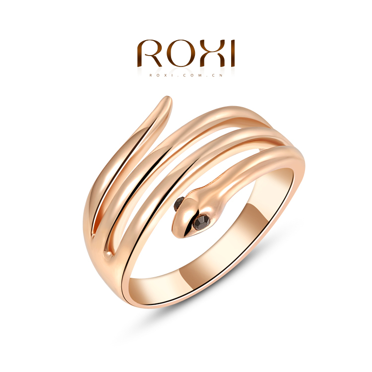 Fashion Snake Ring Austrian Crystal Gold Plated ROXI Jewelry Women Cyber Monday Deals - Bella Digital Accessories store