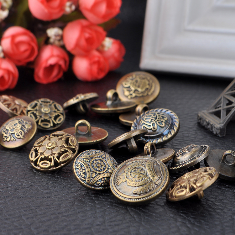 New arrival diy bronze buttons home decor resin crafts for Decorative pins for crafts
