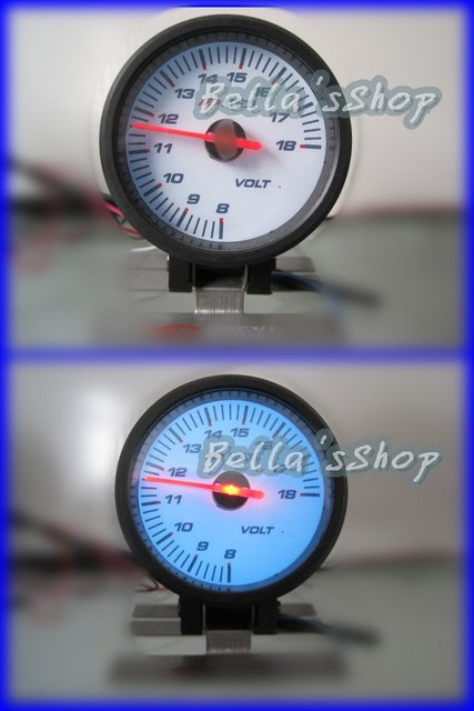 APEX 60mm volt  gauge stepper motor auto performance  instrument racing meter white