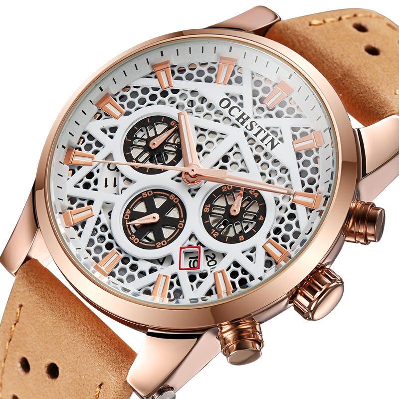 OCHSTIN New Swiss Brand Men Watch Fashion Quartz Sports Watches Military Waterpoof Watch Men Leather Relogio Masculino Men Clock(China (Mainland))