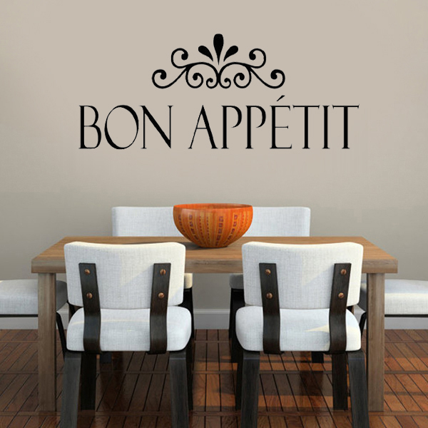 Bon Appetit Kitchen Wall Stickers Home Decor Living Room
