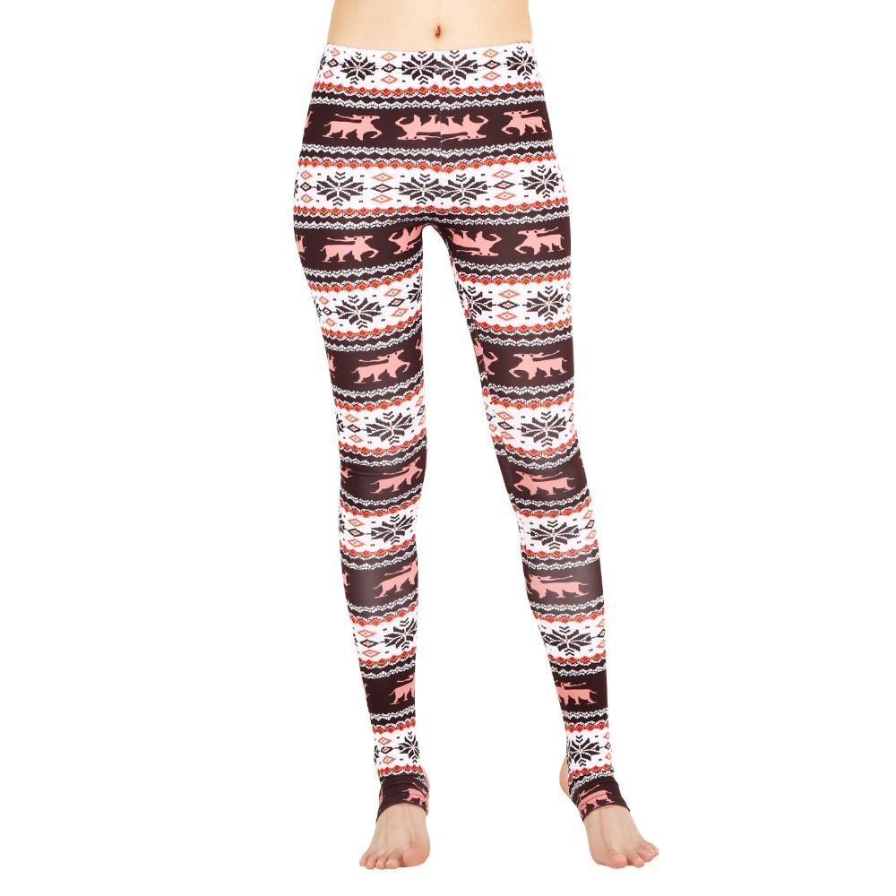 f8262fc609 Boutique Tribal print Aztec legging Brown deer cotton feel stirrup legging (1)