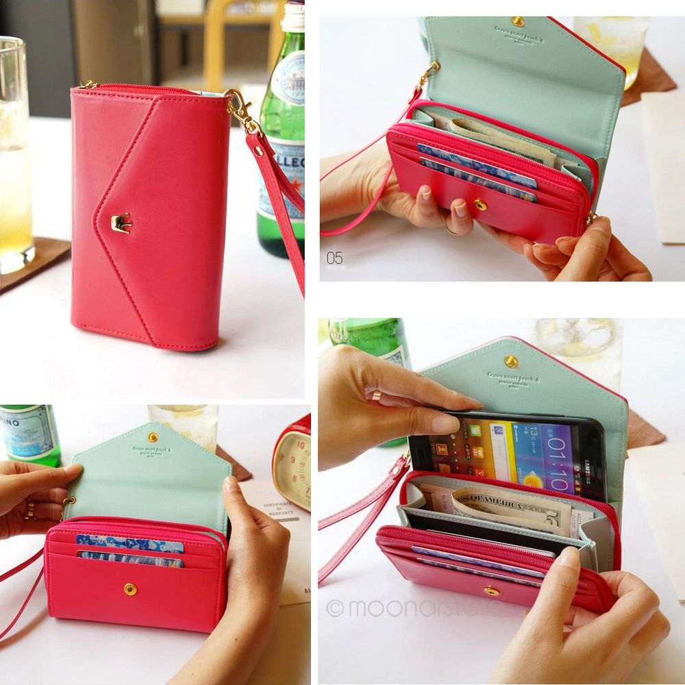 Wholesale Womens Fashion Leather Purse Phone Wallet Concise Stella Jims Honey Getsubject Aeproduct