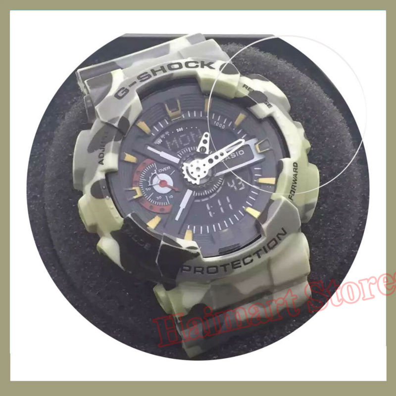 Military Grade Anti Shock Film for Casio Watch G Shock Luxury Classic Multifunctional Analogue Digital Alarm