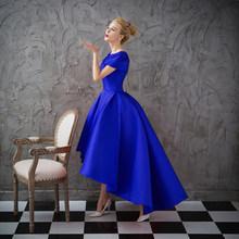 Ladybeauty קצר לנשף שמלת תחרה קצר שרוול רקמת שמלת ערב 2018 גבוהה נמוך אמא חתונה מסיבת שמלת מקסי שמלה(China)
