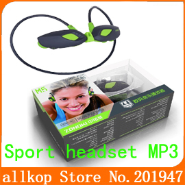 wholesale high quality Wireless Sport mp3 4GB headset Sports MP3 Earphone Headphone Music Player reeshipping 3pcs/lots(China (Mainland))