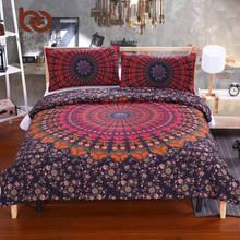 BeddingOutlet Mandala Bedding Set Concealed Bedspread Duvet Cover 2Pcs or 3Pcs Boho Bedlinen Twin Full Queen King Cal-King New(China (Mainland))