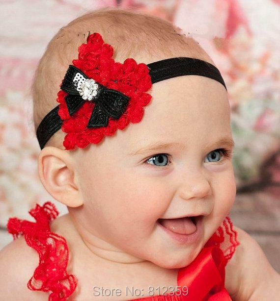 Chiffon Heart Butterfly Rhinestone Headband Newborn Baby and Toddler Girl Valentines Christmas Headband HB1020(China (Mainland))