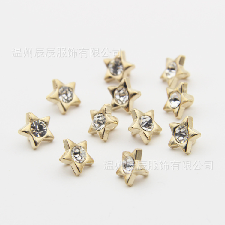 Free shipping 9MM quality star oil dropping round button classic men women boy girl lady style sweater suit shirt buttons(China (Mainland))
