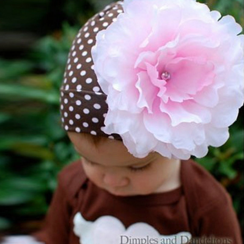 Baby Kids Girls Solid Large Flower Infant Toddler Beanie Hat Cap Bucket Cap <br><br>Aliexpress