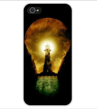 Free Shipping lighthouse inside bulb Cell Phone Cover Case Cases for Apple iPhone 5 and 5S(China (Mainland))