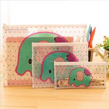Cartoon Elephant PVC file bag pencil case file folder documents filling bag office school suppllies stationery bag(China (Mainland))