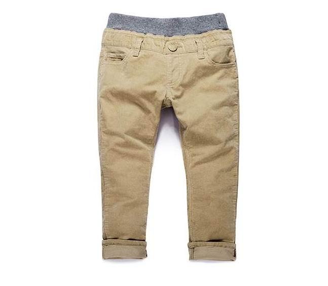 Child Solid color Elastic Waist Corduroy Pant, Trouser, Boy Cotton Corduroy Pants, Free shipping(China (Mainland))