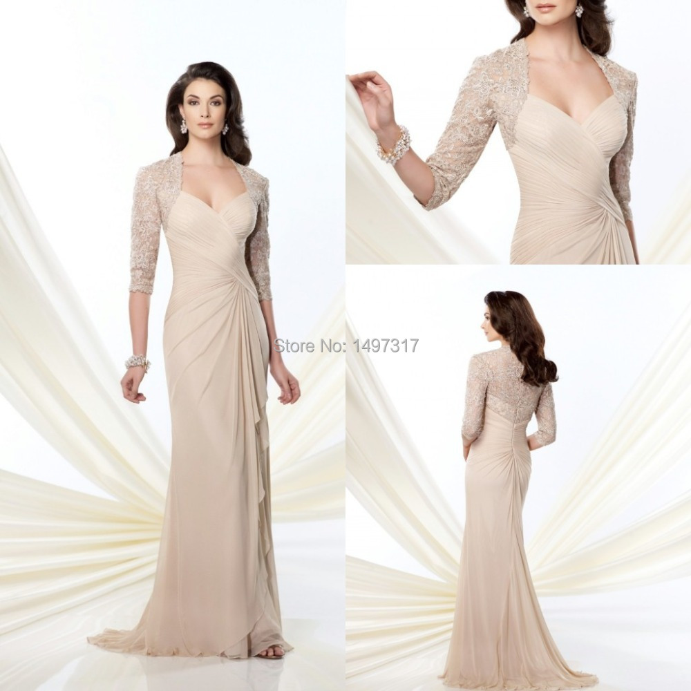 Champagne Colored Mother Of The Bride Dresses
