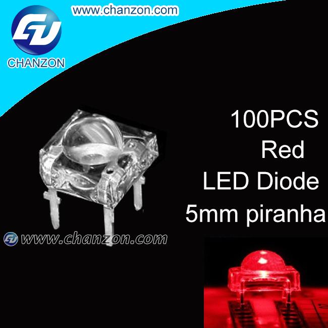 100pcs 5mm Piranha Led Super Flux Water Clear 4 Pins Led Lamp Beads eagle-eye led Led Piranha Red LED Diode(China (Mainland))