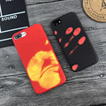 Thermal Sensor Phone Case For iPhone 7 Cases Physical Thermal Discoloration Funny Back Cover For iphone