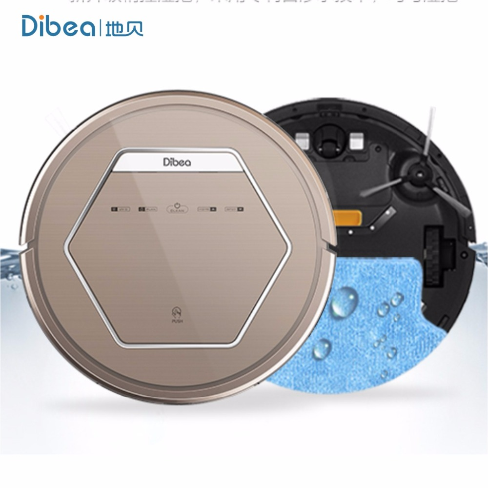 Dibea ZN808 Gold Robot Vacuum Cleaner Wireless With UV Lamp Portable Vacuum Cleaner Wihtout a Bag Auto Floor Cleaner for Home(China (Mainland))