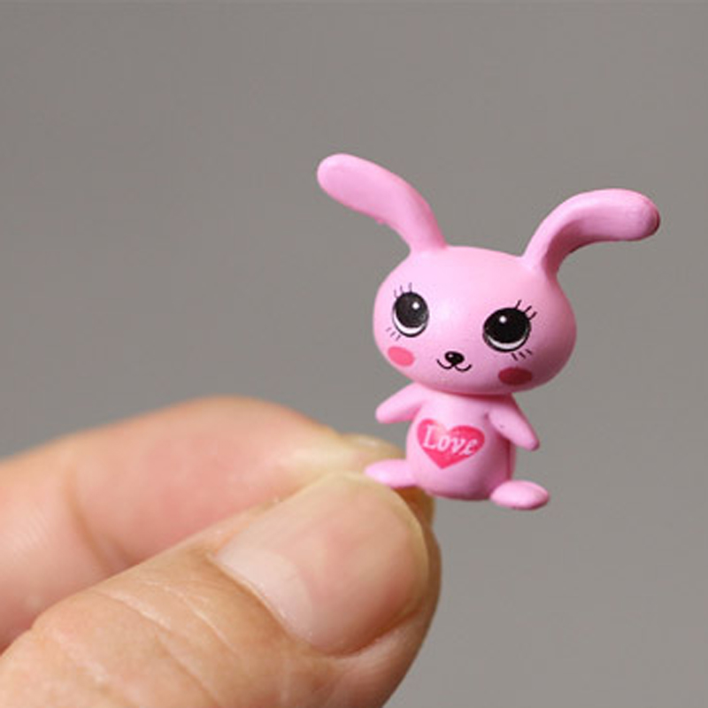2.5cm Kawki Rayman Raving Rabbids Rabbit Figures Toy Model PVC Rabbit Figure Brinquedos(China (Mainland))