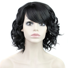 Blonde Full Wig for Women Fake Hair 16inch Cheap Wigs Short Curly Heat Resistant Synthetic False Hair Short Natural Women's Wigs(China (Mainland))