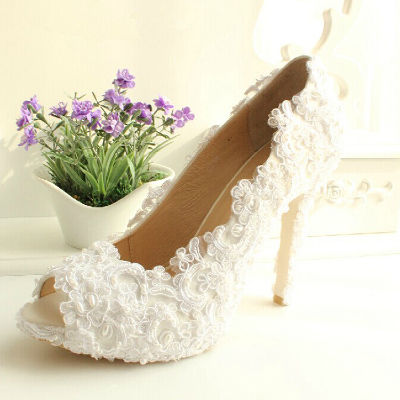 Imitation Pearl Bridal Wedding Shoes Flower Lady Shoes For Wedding