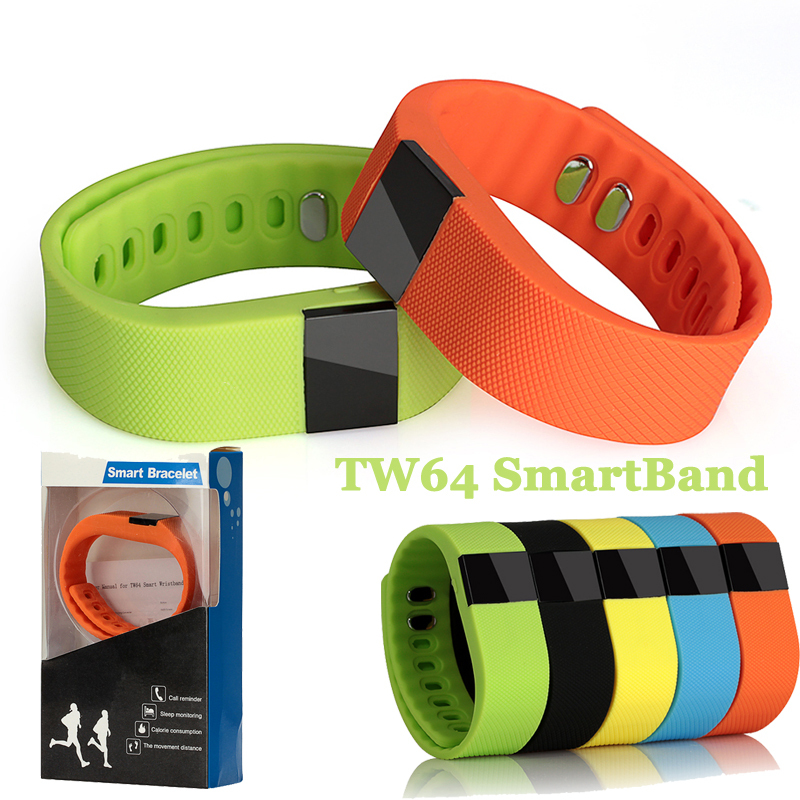 For Fitbit Smart Band Fitness Tracker Wristband TW64 Bracelet Bluetooth SmartWatch Sports Health Pedometer For Android HTC iOS(China (Mainland))