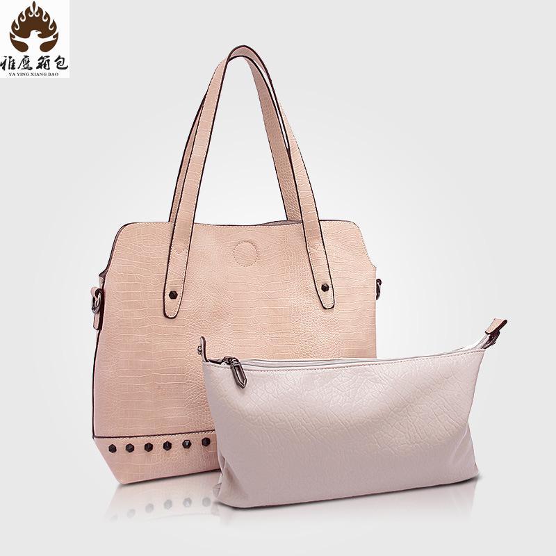 2016 New Brand Pu Leather Crocodile Bag Import European Fashion Brand Handbag Designer Handbags High Quality Women Bag