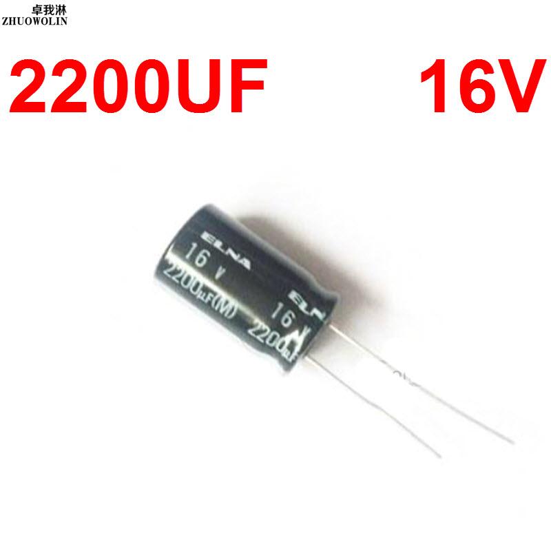 10PC/Lot 2200UF 16V Electrolytic Capacitor SIZE 13X21MM YXSMDZ2596(China (Mainland))