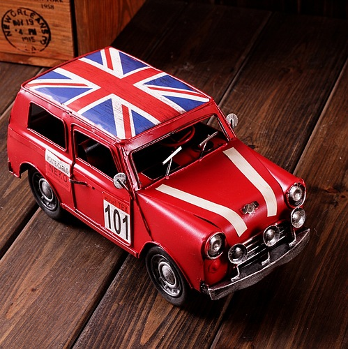 Zakka Vintage Home Decor Metal Cast Iron Toy Cars Handmade Shabby Chic Tin Car Toys Gifts 22*9*8.6cm(China (Mainland))