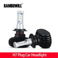 Rambowill 2x Car Headlight H7 Plug Cree CSP Chips Frontlight Single Beam 50W 8000lm Cool White