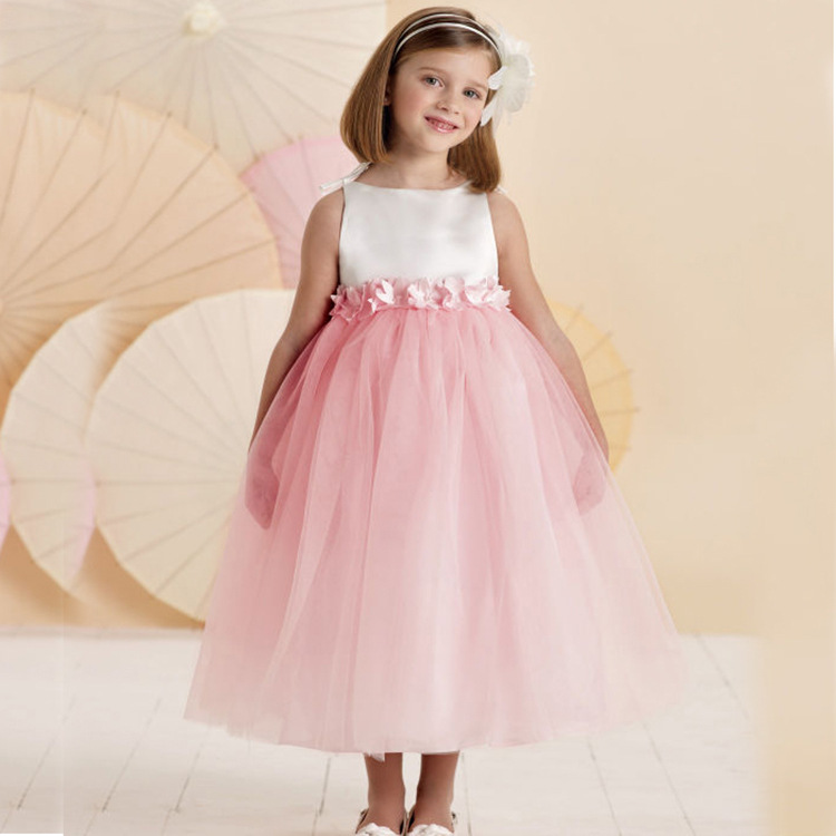flower children girls party dress tutu princess dress for. Black Bedroom Furniture Sets. Home Design Ideas