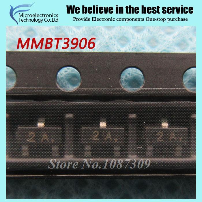 200pcs free shipping MMBT3906LT1G MMBT3906 2N3906 3906 SOT23-3 0.2A/40V PNP new original(China (Mainland))