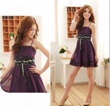 free shipping new women lace dress straps dress ladies dress women clothing(China (Mainland))