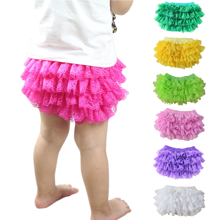 Wennikids 11colors Lace Baby Bloomer Infant Baby Bloomer Diaper Cover Kids Girls Ruffled Bloomers Nappy Cover 0-24m Freeshipping(China (Mainland))