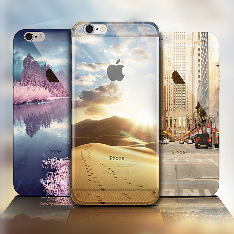 Beach Snow Mountain Glacier Ocean Case Cover For Apple iPhone 6 6S Case Silicone 6 Series Aurora Meteor Fashion Case For Phone(China (Mainland))