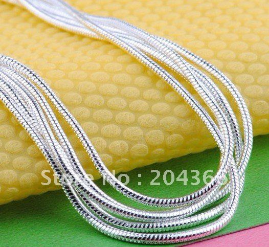 YFN 2016 Free shipping Wholesale fashion jewelry For Women 2mm inch silver Planted snake Chain necklace Beautiful Necklace(China (Mainland))