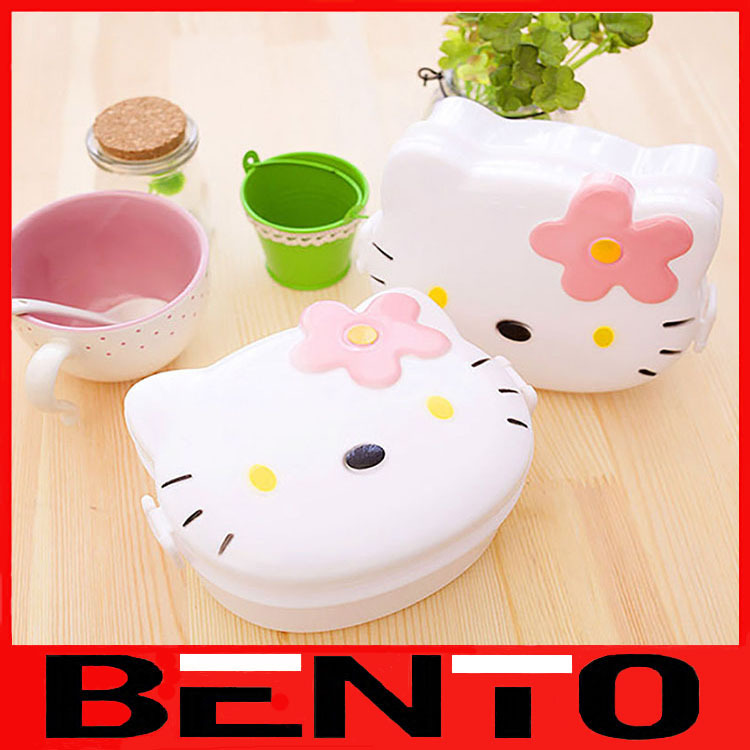 Container For Food Plastic Bento Box Lovely Double Sealed Japanese Meal Boxes Kid's gift 400ml(China (Mainland))