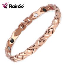 Buy Rainso stainless steel Letter shape power energy health bracelet 4 1 magnetic germanium benefit healthy bracelet women for $6.43 in AliExpress store
