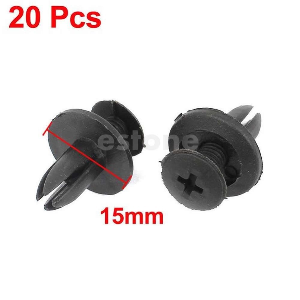 Y103'-Free shipping 20 Pcs Car Bumper Fender 6mm Hole Black Plastic Rivets Fasteners for Toyota(China (Mainland))