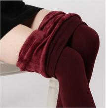Tendência Knitting frete grátis venda quente 2015 inverno Leggings alta elastic engrosse senhora calças quentes calças skinny para mulheres