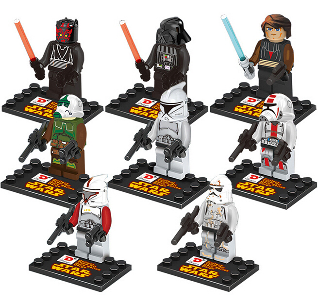 Гаджет  NEW hot 8pcs/set Star Wars 7 Force Awakens Darth Vader Action Figures Building with card Blocks Bricks Compatible toys No box None Игрушки и Хобби