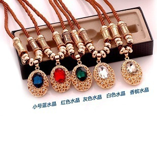 sp067 Free Shipping Min.order is $12 Adorn article &  1pcs 3 styles exaggerate crystal moon palace pendant long sweater chain