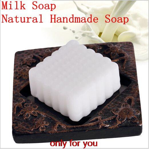 New handmade soap Milk Soap Natural Handmade Soap For Whitening Skin Whiten And Moisturize Skin 1pc(China (Mainland))