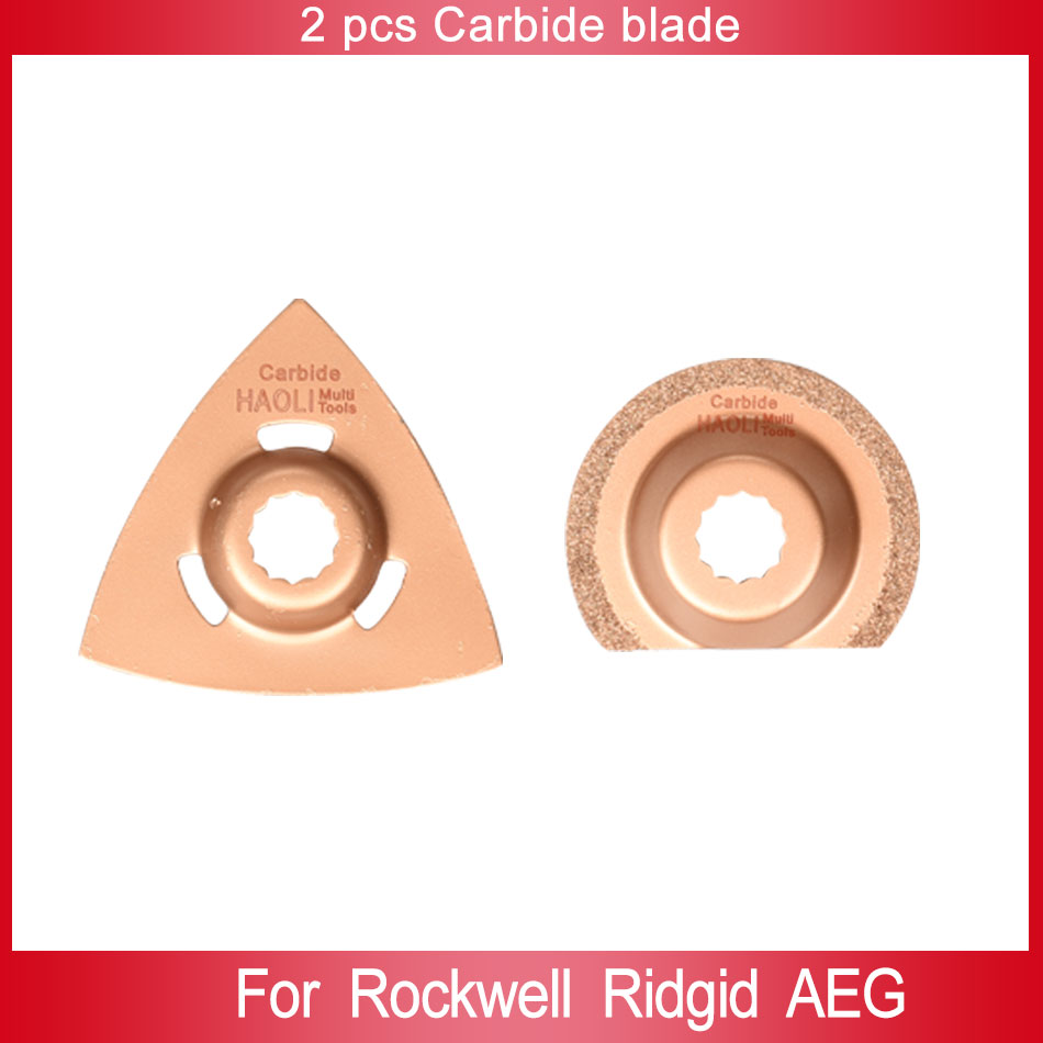 2 pcs carbide rasp,triangular segment Oscillating Multi Tool saw blade fit for AEG,Ridgid,Worx electric tools,in good quality<br><br>Aliexpress