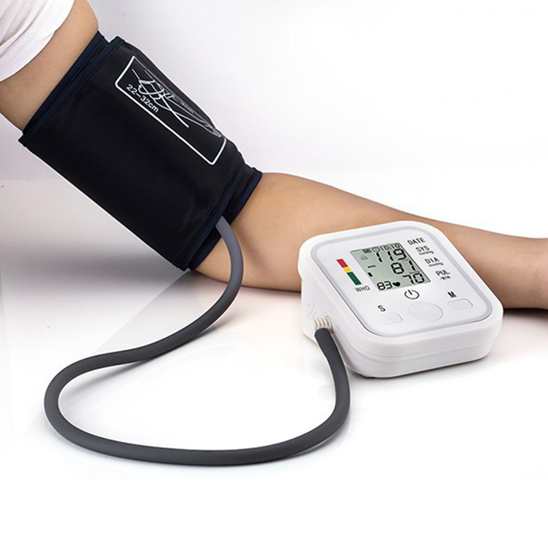 2016 New Household LED Monitors Portable Health Care Upper Arm Cuff Blood Pressure Monitors For UK Free Shipping R017-2